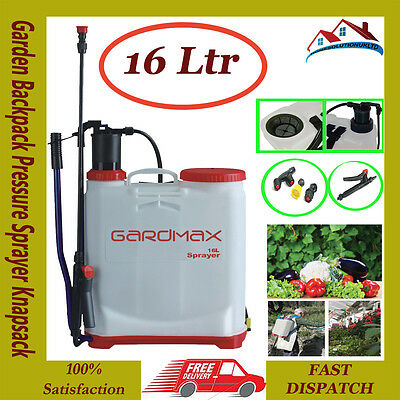 16Ltr Knapsack backpack sprayer chemical pressure garden for water weed killer