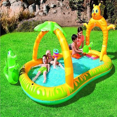 Bestway Inflatable Jungle Safari Splash Activity Play Paddling Pool Spray Toy