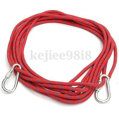 10M Safety Climbing Tree Rock Sling Rappelling Rope Auxiliary Cord Equipment 3KN