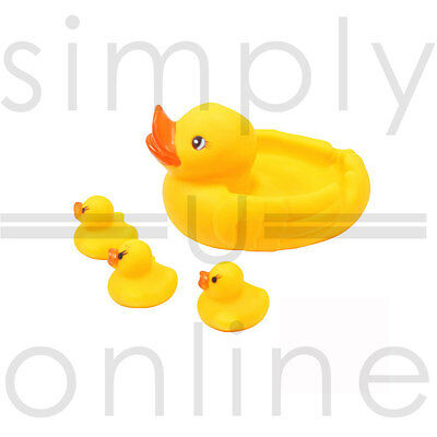Yellow Bath time Toys Toy Squeaky Rubber Ducks Mum and Babies Family
