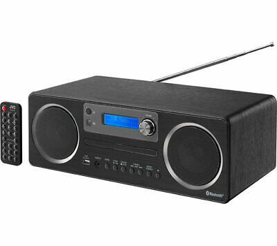 JVC RD-D70 Wireless Traditional Hi-Fi System with USB Connector Bluetooth Black