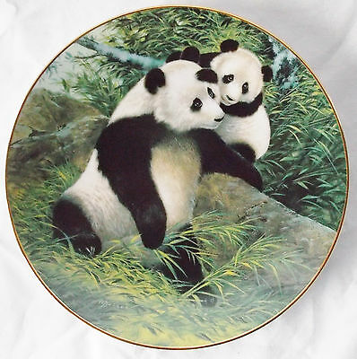 """A Touch of Love"" Pandas Gentle Beginnings Collector Plate by Will Nelson '91"