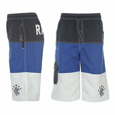 RANGERS F.C Junior Boys Blue S-Lab Football Team Boards Shorts 13-14 Years NEW