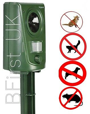 Ultra Sonic Wave Wall Mounted Spike Cat Dog Fox Rodent Repeller Repellent Garden