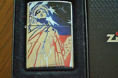 ZIPPO Lighter, 24192 - Justice for All, High-Polish Chrome, 2007, Sealed, M1222