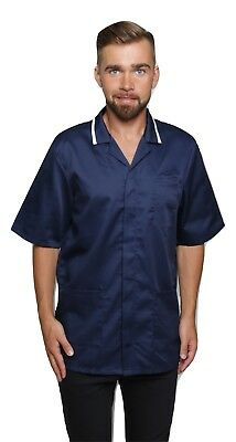 Men Male Healthcare Medic Health Therapist Doctor Dentist Top Tunic Jacket Shirt