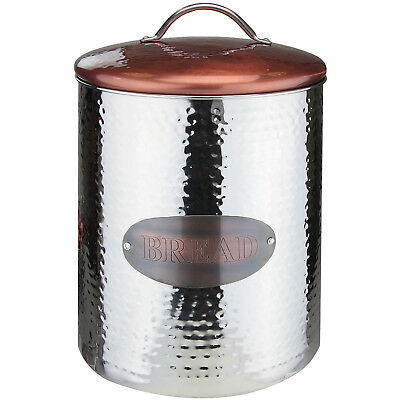 Vintage Retro Stainless Steel Bread Canister Kitchen Food Storage Container Jar