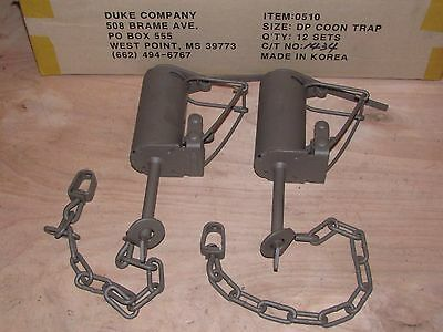 3 Powder Coated Duke DP Dog Proof COMES FREE CABLE EXTENSIONS RACCOON TRAPPING