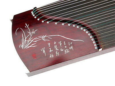 "(28 Sold) 21-String, 54"" Travel-Size Rosewood Guzheng, Chinese Zither Harp, Koto"