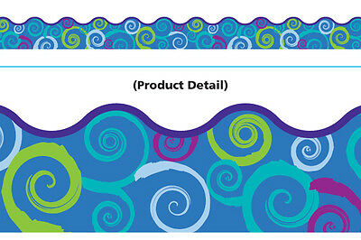 TCR Cool Swirls Scalloped Terrific Trimmers Bulletin Board Border Trim (92150)