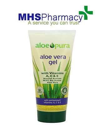 Aloe Pura Aloe Vera Organic Gel Skin for Burns Vitamins Treatment 200ml.
