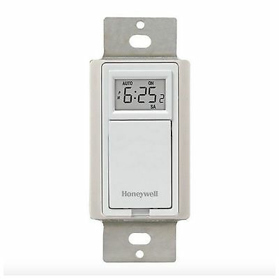 Honeywell Digital Programmable Electric Light Indoor Wall Timer Switch 120 v New