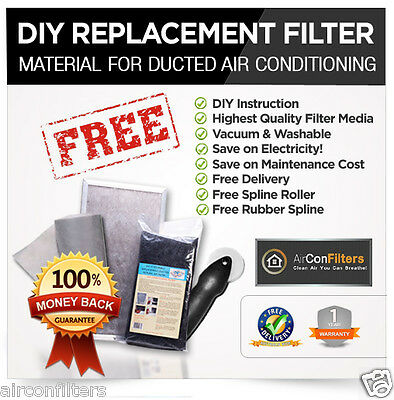 Ducted Air Conditioning-Air Conditioner filter Material Media Replacement Kit