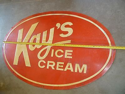 Large Vintage Kays Ice Cream Sign