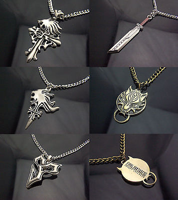 Final Fantasy Accessory Keychain Necklace Pendant Cloud+Tidus Cosplay Amulet Hot