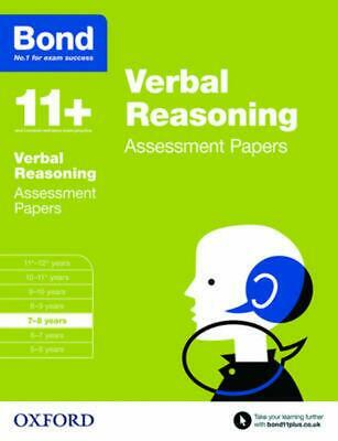 Bond 11+: Verbal Reasoning: Assessment Papers: 7-8 years by Andrew Bond Paperbac