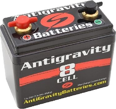 240 CCA 8 Cell Antigravity Small Case Lithium Motorcycle Battery