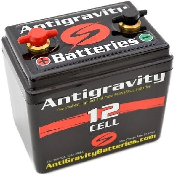 360 CCA 12 Cell Antigravity Small Case Lithium Motorcycle Battery