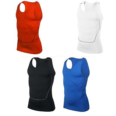 Men Sports Sleeveless  Undershirt Basketball Running Training Althelic Top Vest