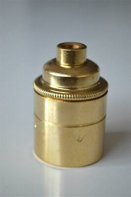 British made brass Edison ES E27 light bulb holder with 10mm entry lampholder E1