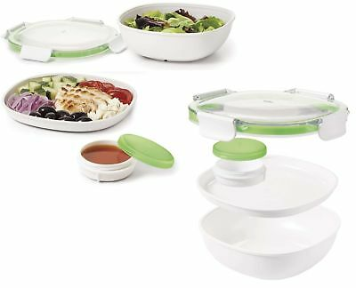 Neu | Oxo Good Grips 2 Fächer Salat Box To Go Inkl. Dressingdose Salad-Container