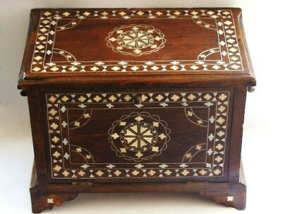 Jewelry Box Ottoman(inlaid mother of pearl and bone )
