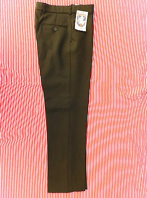 School uniform trousers Vintage 1970s Invicta UNUSED black slimline SHOP SOILED