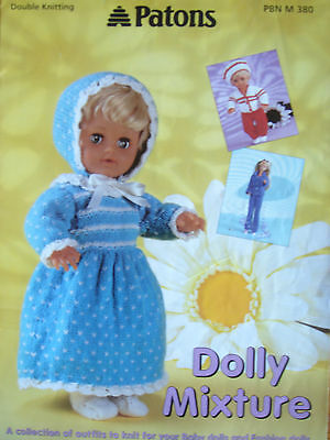 Patons Knitting Patterns For Dolls Clothes : Patrons, modeles, Crochet, tricot, Loisirs creatifs   PicClick
