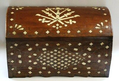 Rare Jewelry Box Ottoman(inlaid camel bone)