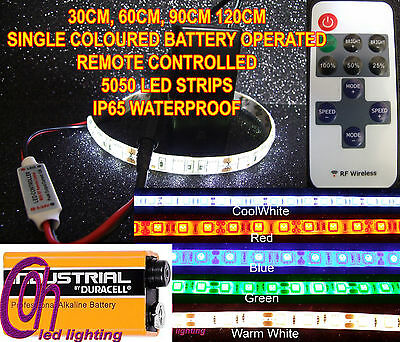 9V Pp3 Battery Operated Remote Controlled 5050  Led Strip 5 Colours To Choose