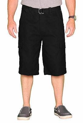 OTB Men's Belted Solid Cotton Twill Cargo Short