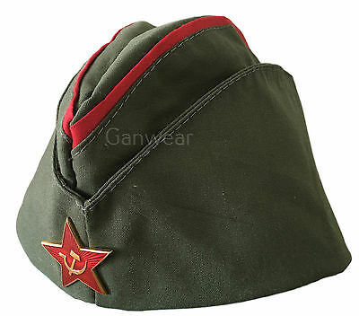 Ganwear USSR Soviet Russian Army Uniform Black Che Guevara Beret Hat Cap Large Badge