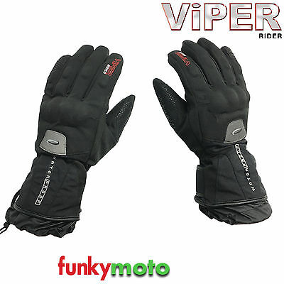 Viper Rider Motorcycle Touring Waterproof Gloves Textile Cordura Black Pro Therm