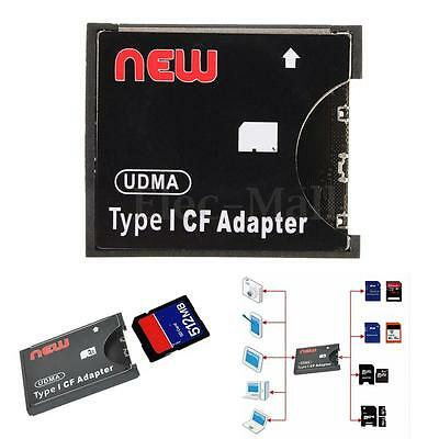New WiFi SD SDXC SDHC MMC to CF Type I 1 Memory Flash Card Reader Adapter 128GB