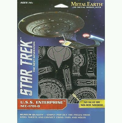 Fascinations Metal Earth 3D Steel Model Kit - Star Trek USS Enterprise NCC-1701D
