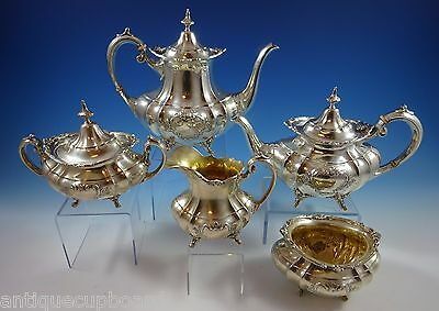 Hampton Court By Reed & Barton Sterling Silver Tea Set 5-Pc. #663 (#1137)