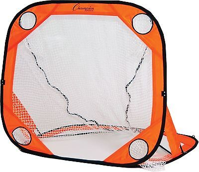 New Champion Lacrosse 4'x4' Steel Frame Target Training Rebounder Goal Net & Bag
