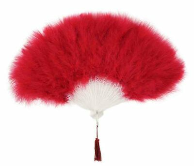 Zucker Feather Marabou Fan Red