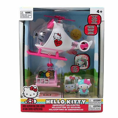 Hello Kitty Emergency Helicopter Playset NIB with Hello Kitty Pilot