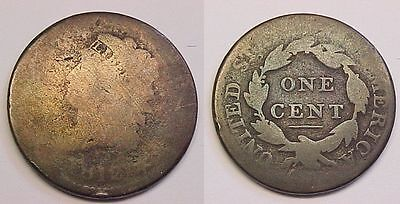 1812 Classic Head Large Cent About Good AG