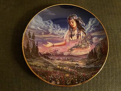 Maiden of the Sacred Range - Native American Indian Collector Plate