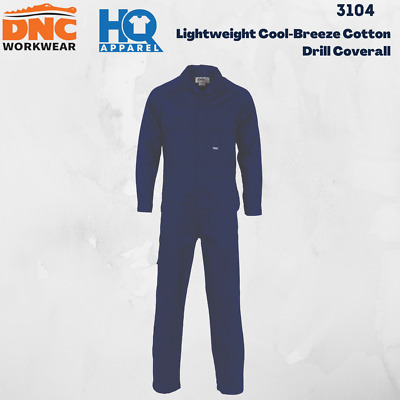 Lightweight Cool-Breeze Cotton Drill Coverall Safety Workwear 3104 Dnc