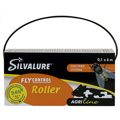 Silvalure Fly Roller Curtain 10cm x 6m - Flies Glue Catcher