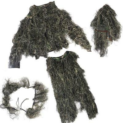 3D Woodland Camouflage Yowie Set Army Hunting Sniper Ghillie Suit Clothing
