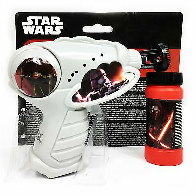 NEW Disney Star Wars Episode 7 the Force Awakens Bubble Gun Toy Gift For Kids