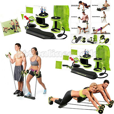 TOTAL BODY FITNESS WHEEL Gym Abdominal RESISTANCE EXERCISE ABS STRENGTH TRAINER