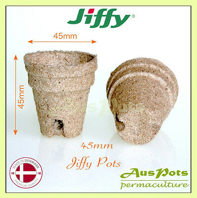 45mm Jiffy Round Pots x 120pcs - Great for Propagation & Seedling