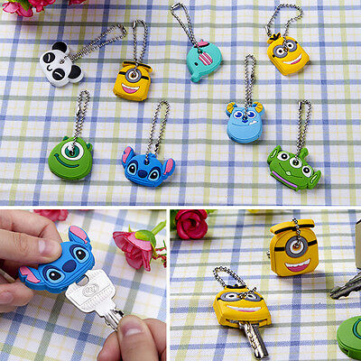 4X Animal Silicone Key Caps Covers Keychain Case Shell Keyring Phone Strap