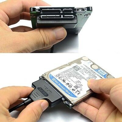 """Hard Disk Drive SATA 7+15 Pin 22 to USB 2.0 Adapter Cable For 2.5"""" HDD Laptop CA"""
