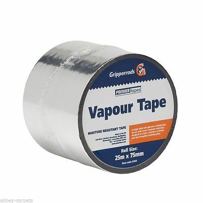 Gripperrods Vapour Tape For Underlay - 25m Roll (Free Postage)